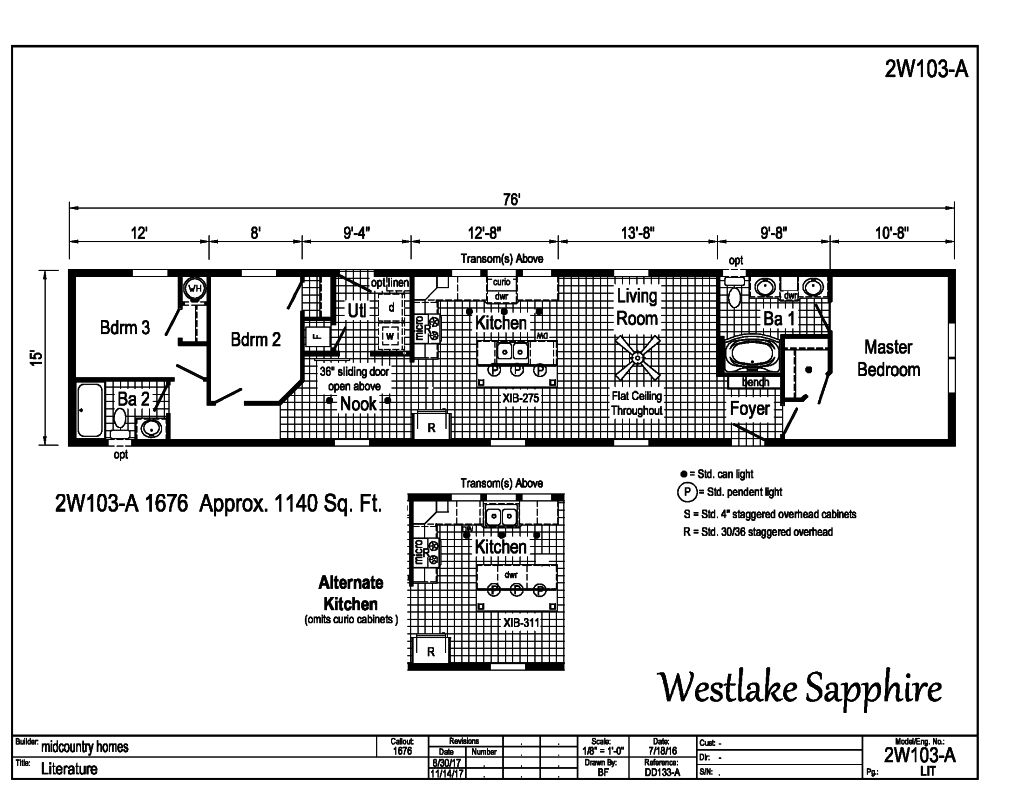 Westlake Single Section - - 2W103A | Find a Home | MidCountry Homes